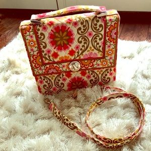 Vera Bradley Lock Crossbody In Julia Folkloric